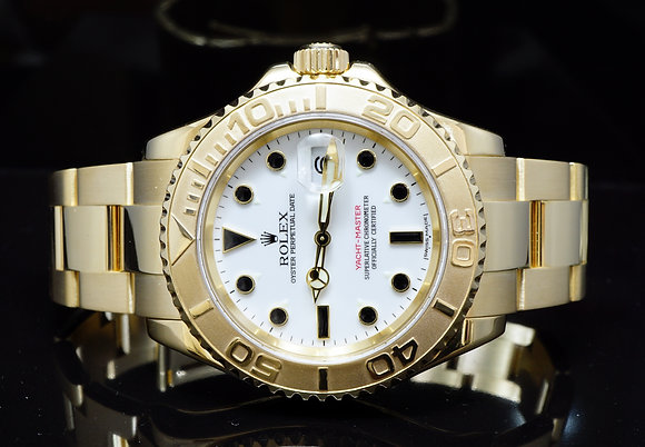 ROLEX 2003 40mm Yacht-Master, 18ct Yellow Gold, 16628, MINT, Box & Papers