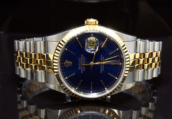 ROLEX 2001 Datejust 36, Steel & Gold, 16233, Boxed