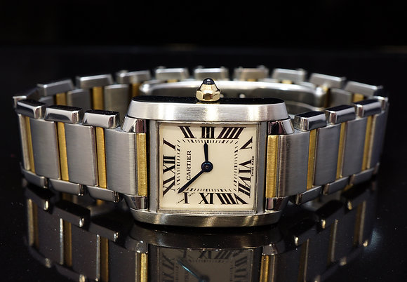 CARTIER Tank Francaise, Steel & Gold, W51007Q4, Boxed