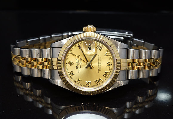 ROLEX 2002 26mm Datejust, Steel & Gold, 79173, Boxed