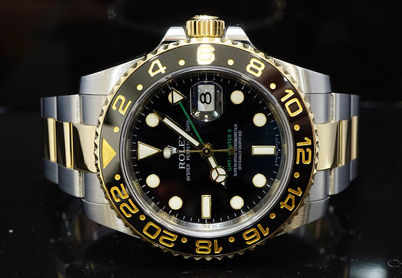ROLEX 2012 GMT Master 2, steel & Gold, Ceramicbezel, 116713LN, Box & Papers