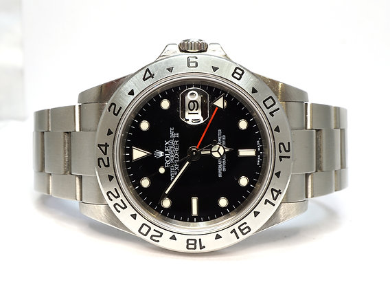 ROLEX 2004 Explorer II, 16570, Black Dial, MINT, Box & Papers