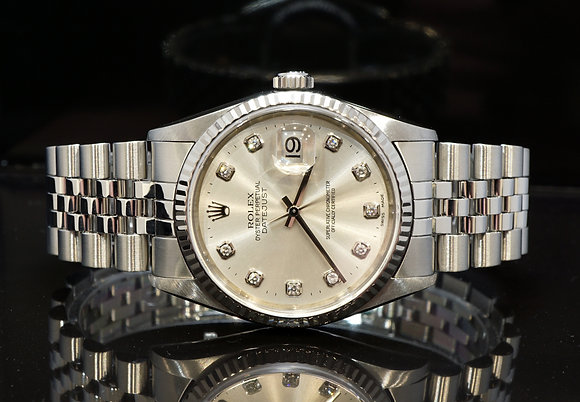 ROLEX 2000 Datejust 36, 16234, Diamond Dot Dial, Box & Papers