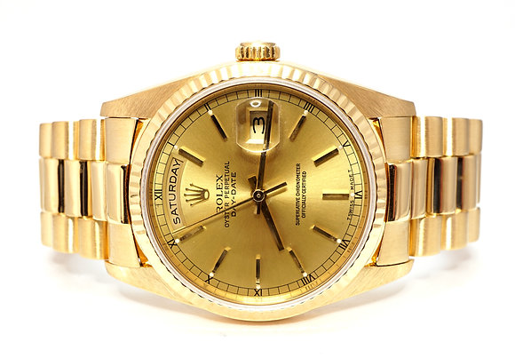 ROLEX 1993 Day-Date 36, 18238, 18ct Yellow Gold, Box & Papers