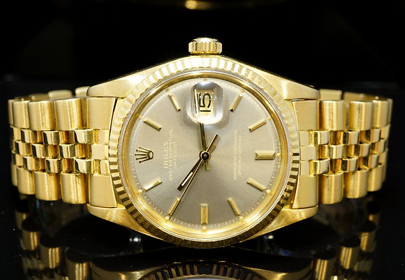 ROLEX 1973 36mm Datejust, 18ct Yellow Gold, 1601, Jubilee Bracelet