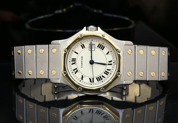 CARTIER Santos Octagonal, 1995, Box & Papers