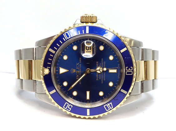 ROLEX 1991 Submariner, 16613, Steel & Gold, Just Serviced, Boxed
