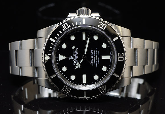 ROLEX 2014 Submariner Non Date, 114060, MINT, Box & Papers
