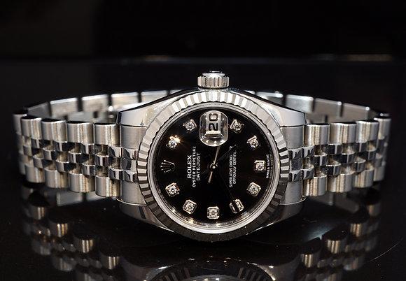 ROLEX 2011+ Datejust 26, Diamond Dot Dial, 179174, Boxed