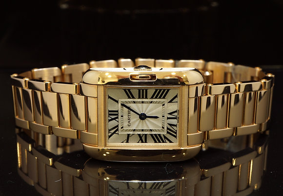 CARTIER 18ct Rose Gold Tank Anglaise, UNWORN Condition