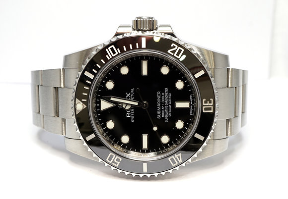 ROLEX Submariner Non Date, 114060, Ceramic Bezel, Boxed
