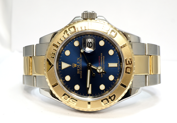 ROLEX 2008 Yacht-Master 40, 16623, Steel & GOld, Blue, MINT, Boxed