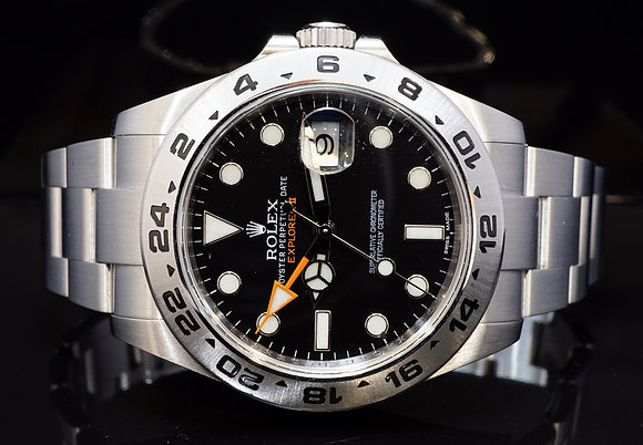 ROLEX 2012 42mm Explorer II, Steel, 216570, Box & Papers