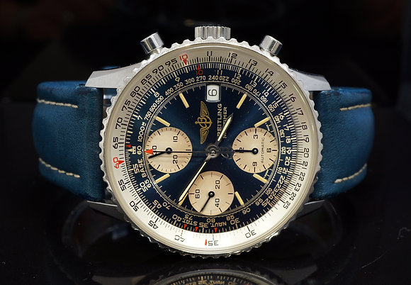 BREITLING Old Navitimer II, A13022, Rare Blue Dial