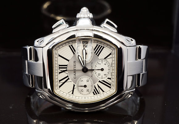 CARTIER 2007 Roadster Chronograph, W62019X6, 2618, With Papers