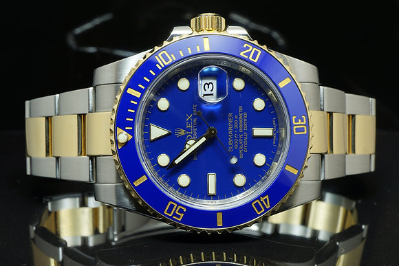 ROLEX Steel & Gold Submariner, 2011, 116613LB, B&P