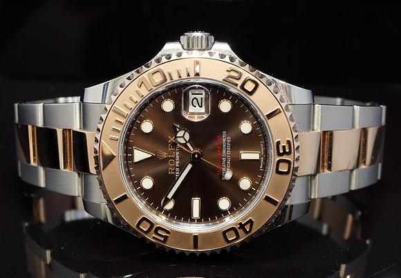 ROLEX 2018 37mm Yacht-Master, Steel & Rose Gold, 268621, MINT, Box & Papers
