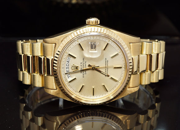 ROLEX 1970 Day-Date 36, 18ct Yellow Gold, 1803, Serviced 11/19
