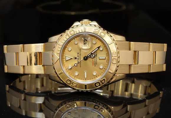 ROLEX 18ct Yellow Gold Lds Yachtmaster, 2006, B&P