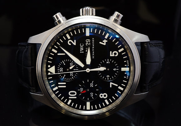IWC 2008 Pilot Chronograph, IW371701, MINT, Box & Papers