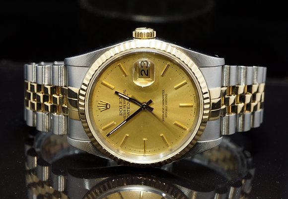 ROLEX 1989 Datejust 36, Steel & Gold, 16233, Jubilee Bracelet