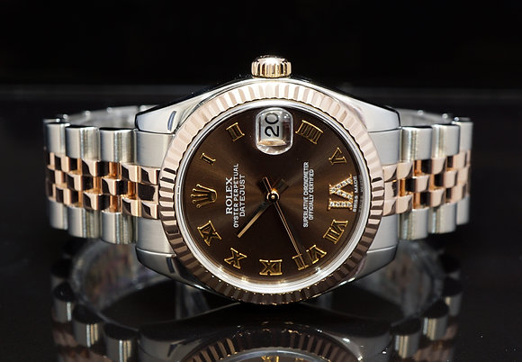 ROLEX 2005 Datejust 31, Steel & Rose Gold, 178271, Diamond Dial, Boxed
