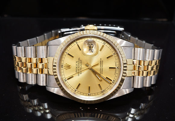 ROLEX 1991 Datejust 36, Steel & Gold, 16233, Boxed