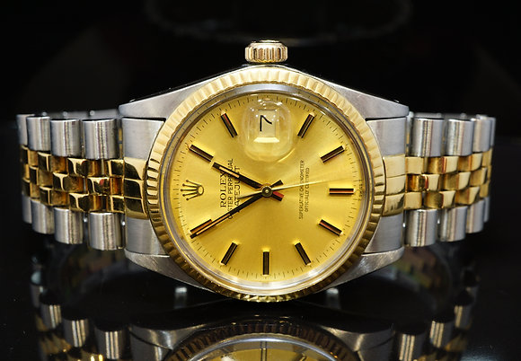 ROLEX 1984 36mm Datejust, 16013, Steel & Gold, Box & Papers