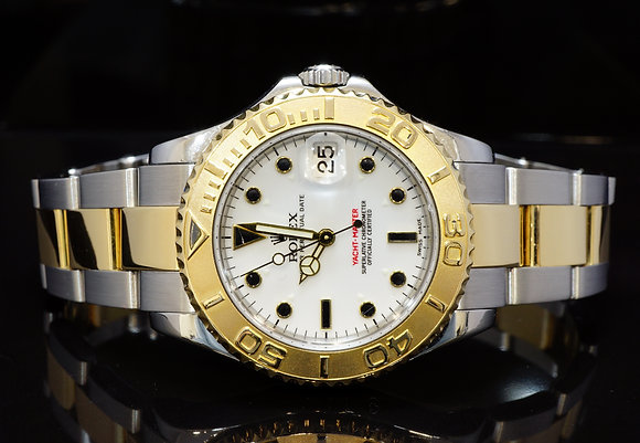 ROLEX 2001 35mm Yacht-Master, Steel & Gold, 168623, MINT, Box & Papers