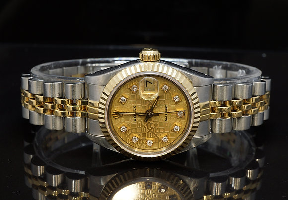 ROLEX 1985 26mm Datejus, Steel & Gold, Diamond Dial, 69173