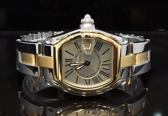 CARTIER 2010 Ladies Roadster, Steel & Gold, W62026Y4, Box & Papers
