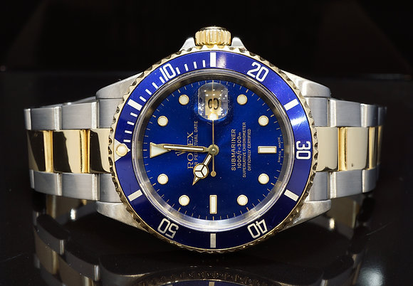 ROLEX 2002 Submariner Date, Steel & Gold, 16613,  Boxed