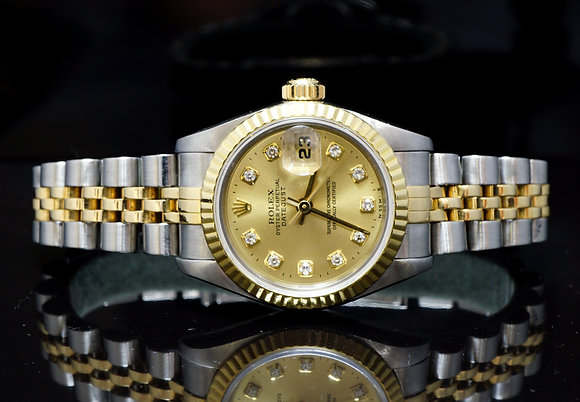 ROLEX 1995 26mm Datejust, Steel & Gold, 69173,MINT, Boxed