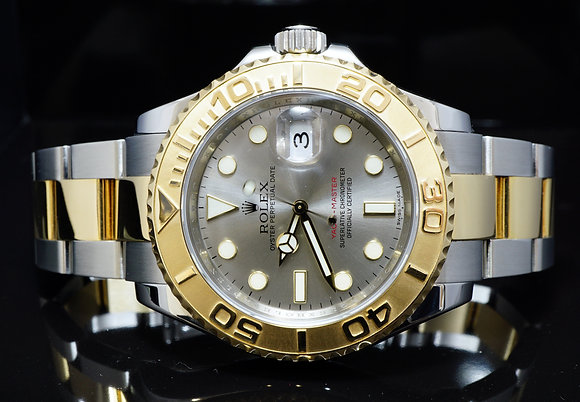 ROLEX 2011 40mm Yacht-Master, Steel & Gold, 16623, MINT, Box & Papers