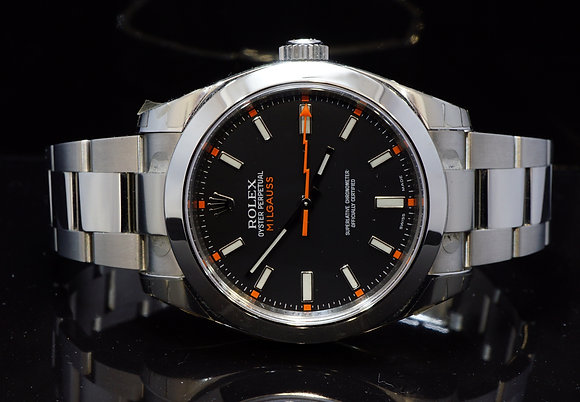 ROLEX 2015 Milgauss, UNWORN, 116400, Box & Papers