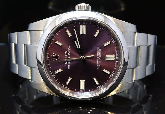 ROLEX 2014 36mm Oyster Perpetual, Grape Dial, 116000, MINT, Box & Papers