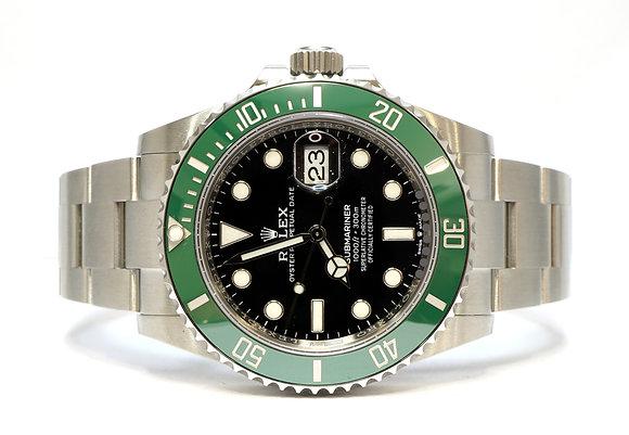 "ROLEX 2021 Submariner LV ""Kermit"", 126610LV, UNWORN, Green Bezel, Box & Papers"