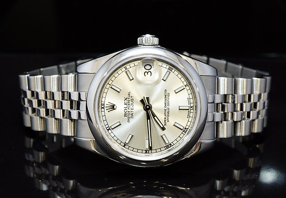 ROLEX 2012 31mm Datejust, Steel, 178240, Serviced by Rolex 2017