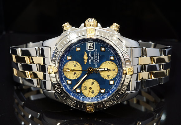 BREITLING 2007 Chrono Cockpit, Steel & Gold, B13358, MINT, Box & Papers