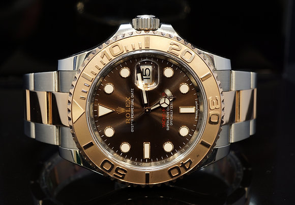 ROLEX 2018 Yacht-Master 40, 116621, Steel & Rose, Chocolate, Box & Papers