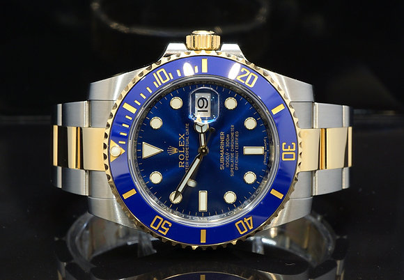 ROLEX 2019 Submariner Date, 116613LB, Steel & Gold, Sunburst Dial, Box & Papers