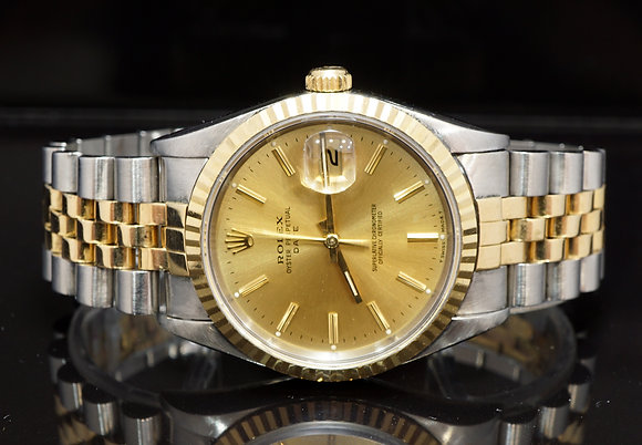 ROLEX 1995 Date 34, Steel & Gold, 15233, Box & Papers