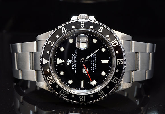 ROLEX 2003 GMT Master II, Stainless Steel,16710, Boxed