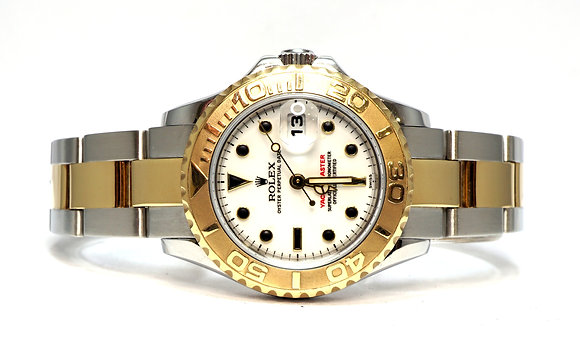 ROLEX 1999 Yacht-Master 29, 169623, Steel & Gold, White Dial, Box & Papers