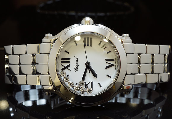 CHOPARD 2008 Happy Sport, Diamond Set, MINT,Box & Papers