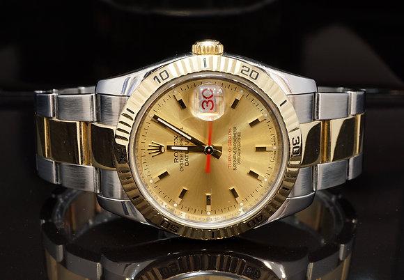 ROLEX 2004 Datejust 36 Turn-O-Graph, 116263, Steel & Gold
