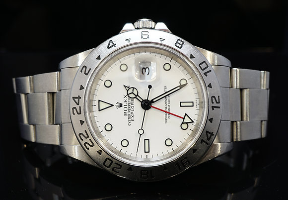 ROLEX 1999 Explorer II, Stainless Steel, 16570, Box & Papers