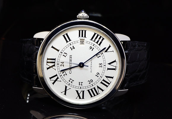 CARTIER 2014 Ronde Solo, Automatic, Steel, MINT, W6701010, Box & Papers