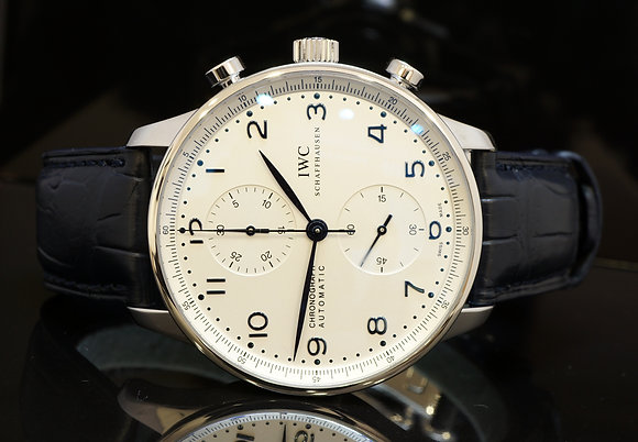 IWC Portugieser Chronograph, Auto, MINT, Box & Papers