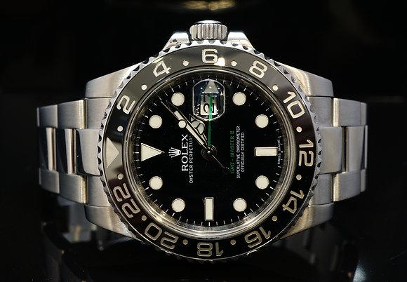 ROLEX 2011+ GMT MasterII, 116710LN, MINT